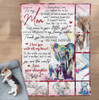To My Mom Blanket - My Loving Mother  - Blanket Gift For Mom - Birthday Gift For Mom