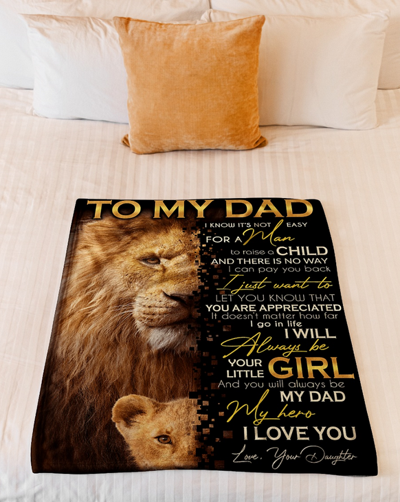 Copy of To my dad - I truly hope you see that nothing you have done has been forgotten - gift for dad from daughter - I love you - blanket
