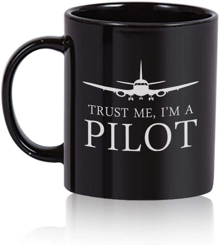 Pilot Coffee Mug. Pilot gift  Black Mug - Family Presents - Great Blanket, Canvas, Clothe, Gifts For Family