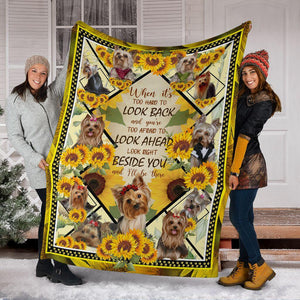 Dog friend Blanket - When it's hard to look back Look right beside you - Family Presents - Great Blanket, Canvas, Clothe, Gifts For Family
