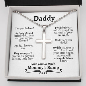 Fathers Day Necklace, To My Daddy To Be Gift For Dad From Bump, Dad to Be Birthday Gift, Expectant Dad Gift, Gift From Unborn Baby to New Dad