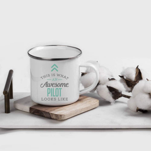 Stainless Steel Campfire Coffee Mug Gift, This is What an Awesome Pilot Looks Like, Birthday Gift Ideas Coworker Him Her - Family Presents - Great Blanket, Canvas, Clothe, Gifts For Family