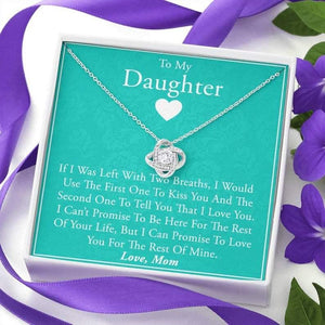 "Mother To Daughter Necklace - ""My Last"" - Daughter Necklace From Mom, Mother Daughter Necklace, Daughter Jewelry, Classic Necklace, Mom Gift - Family Presents - Great Blanket, Canvas, Clothe, Gifts For Family"