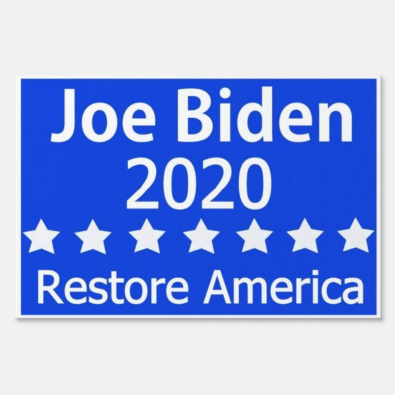Dr Joe Biden 2020 Yard Sign