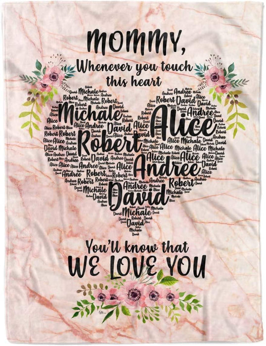 Happy mother's day - Personalized Custom Daughter Son Kids Name to My Mom Mothers Day