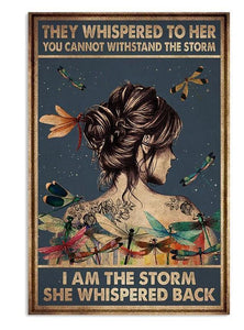 I Am The Storm She Whispered back Canvas