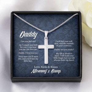 Fathers Day Necklace, To My Daddy, New Dad Gift For Dad From Baby Bump, Daddy Gift From Bump, Dad To Be Christmas Gifts, Expectant Dad Gift