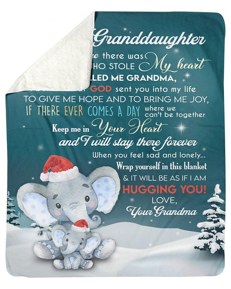 Grandma balnket gift to my granddaughter - Keep me in your heart and I will stay there forever