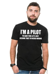 Pilot Aviation Flight School Mens Airplane Funny T-Shirt - Family Presents - Great Blanket, Canvas, Clothe, Gifts For Family