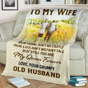 To My Wife Blanket - My Queen Forever - Blanket Gift For Wife - Valentine Gift For Wife