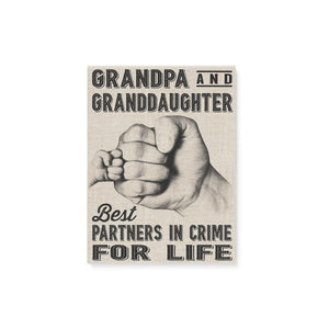 Grandpa And Granddaughter Canvas Prints Wall Art - Matte Canvas