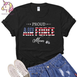 Mothers day Standard T-shirt - Veteran mother - Gift for mom from daughter and son - U.S. Air Force Veteran Mom t-shirt
