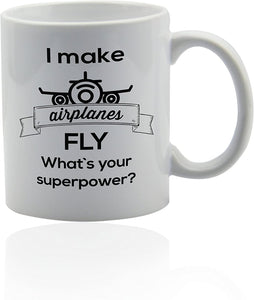 Plane pilot mug for coffee or tea 11 oz. Funny gag joke gift cup. Thank you appreciation gifts - Family Presents - Great Blanket, Canvas, Clothe, Gifts For Family