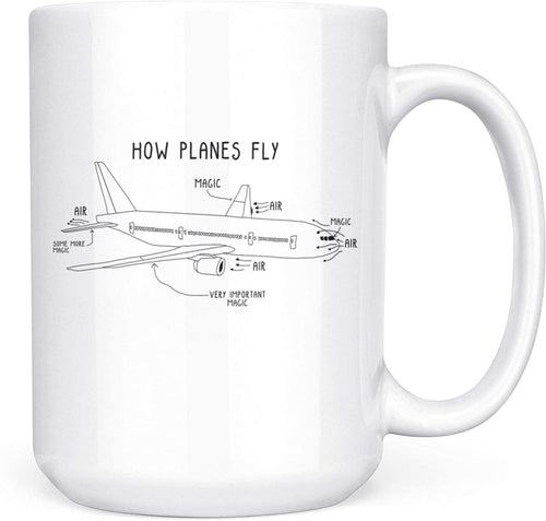 How Planes Fly Mug Funny Pilot, Engineer Gift - Family Presents - Great Blanket, Canvas, Clothe, Gifts For Family