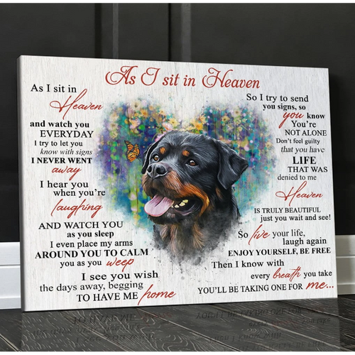 As I Sit In Heaven Wall Art Canvas - Dog/Cat Canvas -  Animal Canvas - Custom your photo
