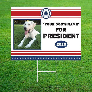 Personalized Dog For President 2020 Yard Sign - Family Presents - Great Blanket, Canvas, Clothe, Gifts For Family