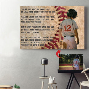 Personalized Canvas - Baseball custom canvas prints With Your Photo - Family Presents - Great Blanket, Canvas, Clothe, Gifts For Family