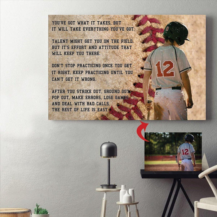 Personalized Canvas - Baseball custom canvas prints With Your Photo