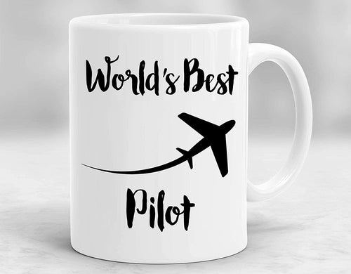 Funny Airplane Pilot Coffee Mug World's Best Pilot Cup - Funny Retired Retirement Christmas Day or Birthday Gift, Best Gift Flight Attendants Helicopter for Him Men Women - Family Presents - Great Blanket, Canvas, Clothe, Gifts For Family