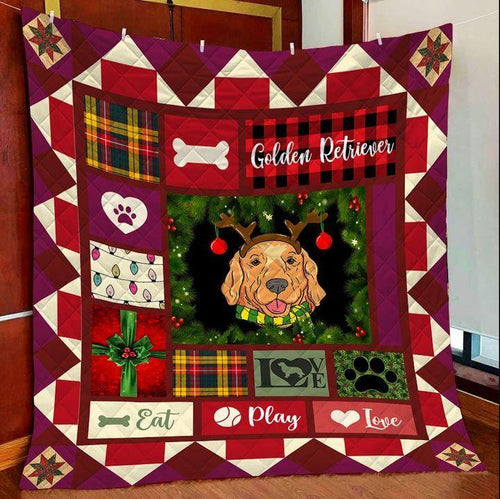 Golden Retriever Lover Blanket - Chrismtas gift for dog lovers