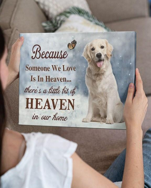 Golden Retriever Gallery Wrapped Canvas Prints - There's a little bit of heaven in our home
