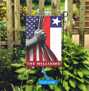 America Chile Personalized Garden Flag - Family Presents - Great Blanket, Canvas, Clothe, Gifts For Family