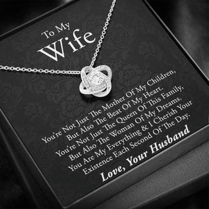 "To My Wife Necklace - ""Each Second"", Gift for Wife, Anniversary Necklace, Necklace for Wife, Gift for Wife Birthday, Valentine Gift For Wife"