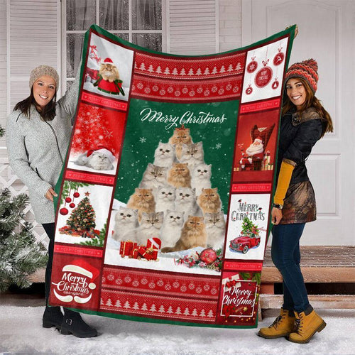 CHRISTMAS PERSIAN CAT BLANKET