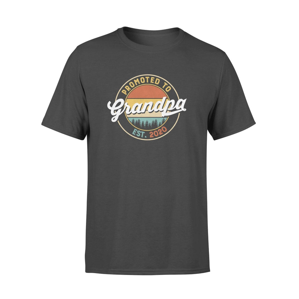 Grandpa - promoted to est. 2020 Standard T-shirt - Family Presents - Great Blanket, Canvas, Clothe, Gifts For Family