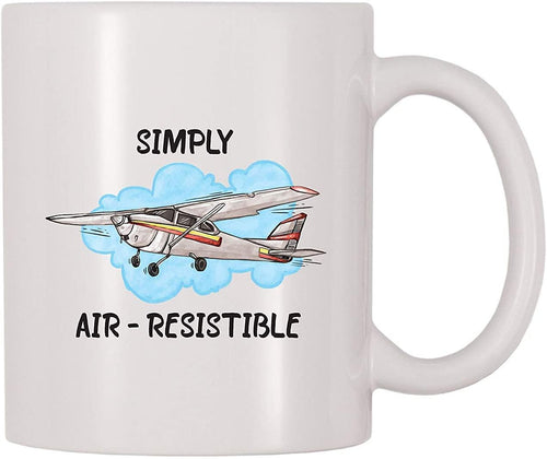 Simply Air-resistible White Mug - Pilot mug - Family Presents - Great Blanket, Canvas, Clothe, Gifts For Family