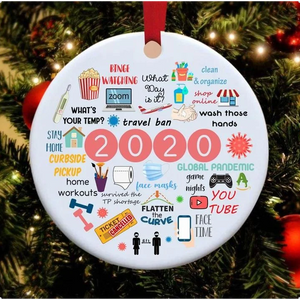 2020 Annual Events Christmas Ornament (2 sided)