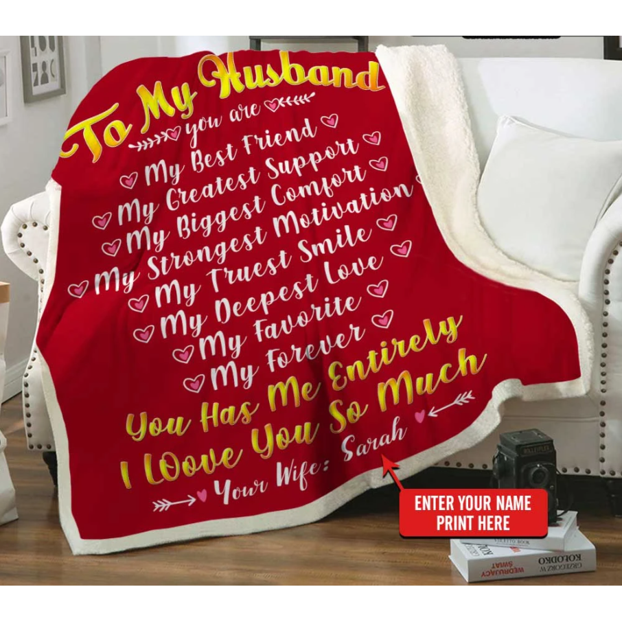 Personalized Blanket - Valentine gift for my husband - To my husband  my best friend - Family Presents - Great Blanket, Canvas, Clothe, Gifts For Family