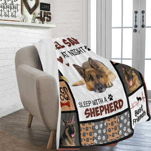 Dog Blanket Feel Safe At Night Sleep With A German Shepherd Dog Fleece Blanket