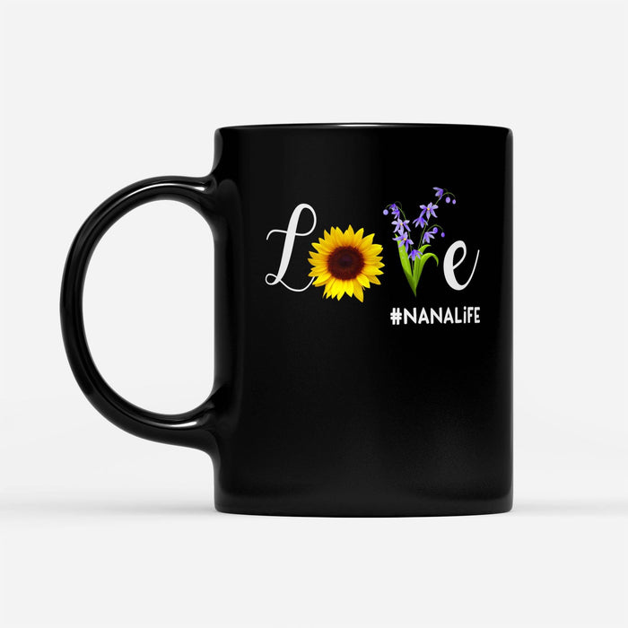 love nana life - Black Mug