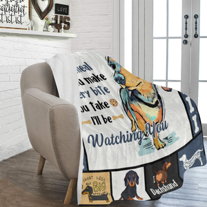 Dog Blanket Every Meal You Make Dachshund Dog Fleece Blanket