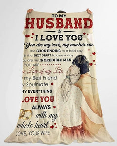 To My Husband Blanket - Love Of My Life - Blanket Gift For Husband - Valentine Gift For Husband , Valentine Blanket For Couple - Family Presents - Great Blanket, Canvas, Clothe, Gifts For Family