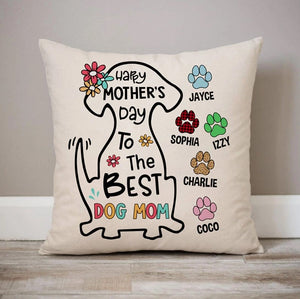 Personalized Pillows, Happy Mother'S Day Best Dog Mom, Personalized Pillows, Custom Gift For Dog Lovers