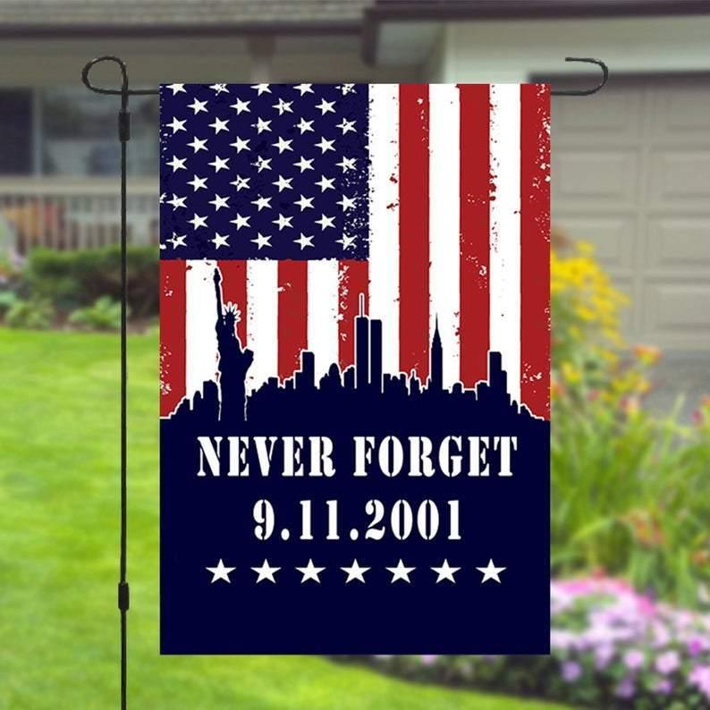 9 11 September 11 Patriots Day Never Forget Garden Banner Flag House Flag