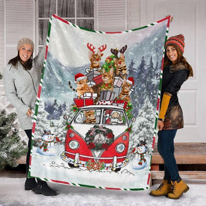 CHRISTMAS BENGAL CAT BLANKET I - Family Presents - Great Blanket, Canvas, Clothe, Gifts For Family