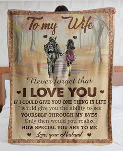 To My Wife Blanket - How Special - Blanket Gift For Wife - Valentine Gift For Wife , Valentine Blanket For Couple