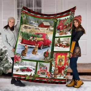 CHRISTMAS BENGAL CAT BLANKET III