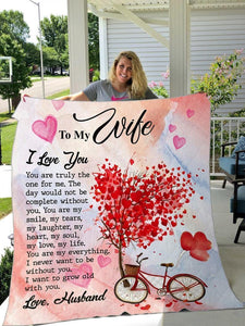 To My Wife Blanket - I Want To Grow Old With You - Blanket Gift For Wife - Valentine Gift For Wife , Valentine Blanket For Couple