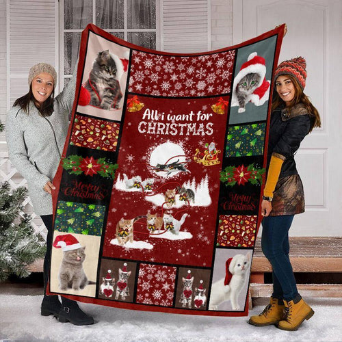 CHRISTMAS CAT MIX BLANKET