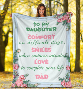 Blanket To My Daughter - Father and daughter - Comfort on difficult days