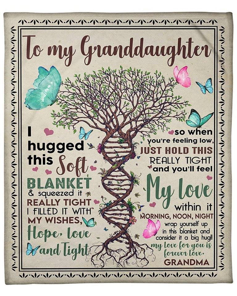 Blanket - Grandma and granddaughter - Special gift for your granddaughter - I fill this blanket with my wish