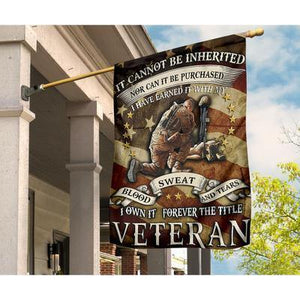 FOREVER THE TITLE VETERAN Garden Flag, House Flag