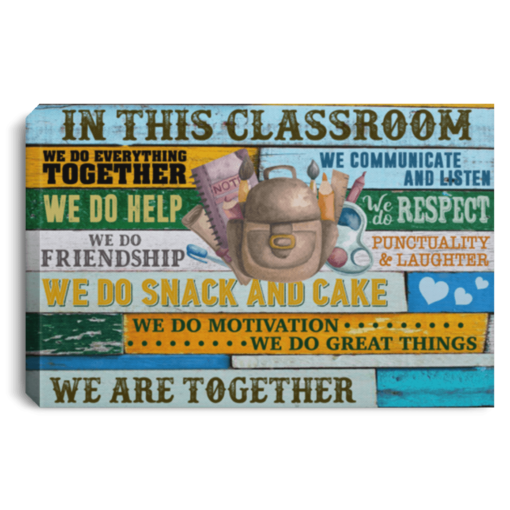 In this classroom Wall Art Canvas  - Back to school canvas - We are together