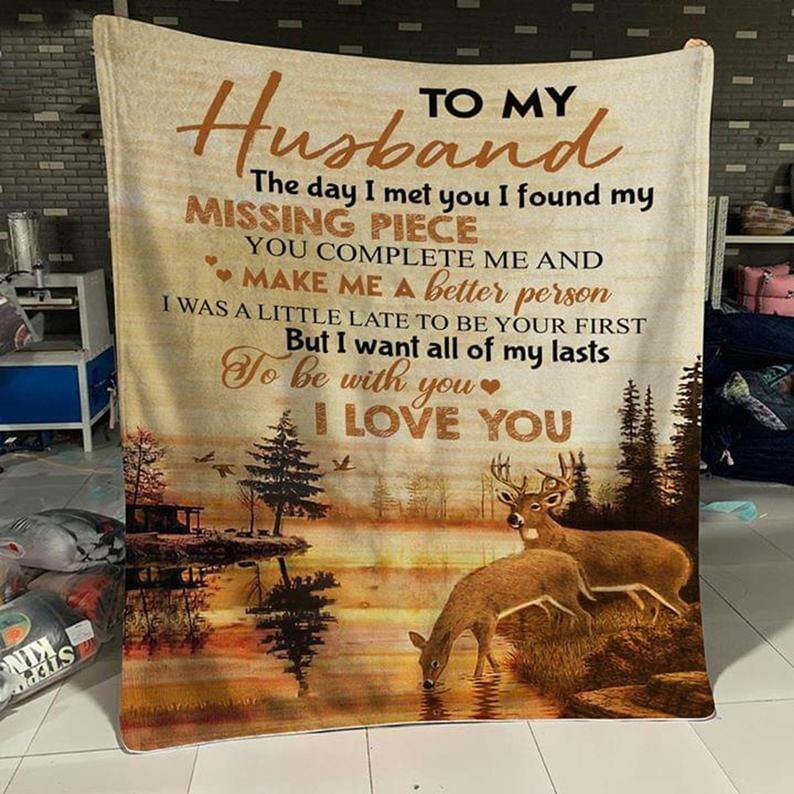 To My Husband Blanket - I Want All Of My Lasts - Blanket Gift For Husband - Valentine Gift For Husband, Valentine Blanket For Couple - Family Presents - Great Blanket, Canvas, Clothe, Gifts For Family