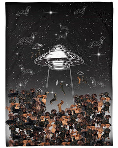 The Universe Dachshund Dog, Love My Dogs Fleece Blanket