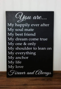 Anniversary Gift for Her or Him - Valentines Gift for Her or Him - Girlfriend Gift - You are my anchor, my life, my love - Family Presents - Great Blanket, Canvas, Clothe, Gifts For Family
